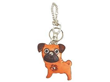 Amazon.com: Pug genuiine Piel Animal/perro Bolsa Encanto ...