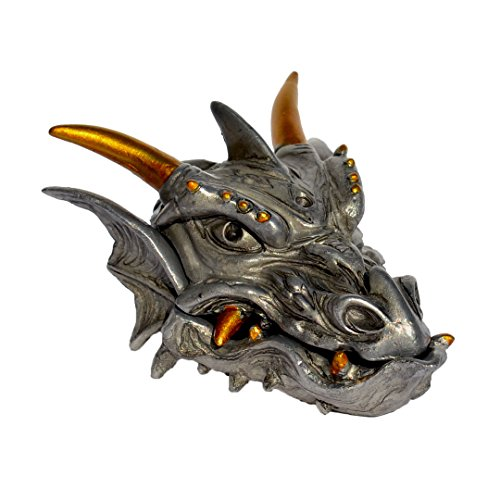 Earings Pewter (Pixie Glare Pewter Dragon Head Treasure Box for Jewelry and Small Accessories)
