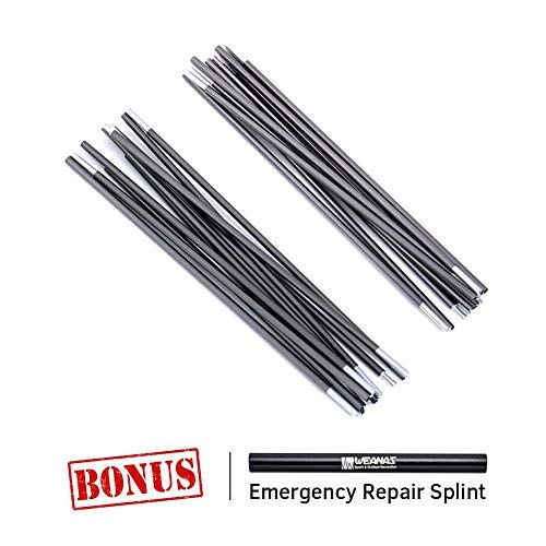 Weanas Aluminum Rod Tent Pole Replacement Accessories (16'3