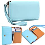 lg c299 - Universal All in One Wallet:: Card slots:: Wristlet Case Fits LG C299, Fireweb, Marquee, Optimus 3D Max|Baby Blue