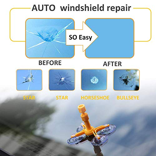 Windshield Repair Kit by Clearshield - DIY Auto Glass Rock Chip Repair Kit for Star Horseshoe Bull's Eye Chips or Cracks - No Need to Replace the Whole Windshield - with Instructions (3 Pack) by Clearshield (Image #4)