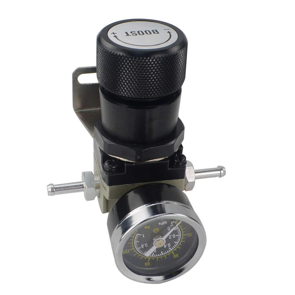 Boost Controllers Blue PQYRACING T2 Universal Manual Gauge Turbo ...