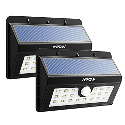 Mpow Solar Lights 2-Pack 20LED Motion Sensor Li...