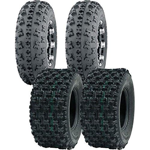 Honda Tires 400ex (YAMAHA YFZ 450X (FULL COMPLETE SET) 21X7-10, 20X10-9 4PLY SPORT OCELOT ATV TIRES)