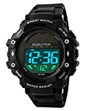 Gosasa Men's Outdoor Sports Multifunction Solar Power LED Digital Watches 50M Water Resistant