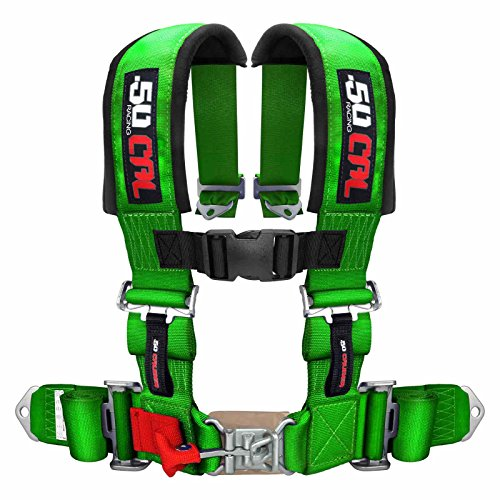 50 Caliber Racing Green 4 Point Harness with 2