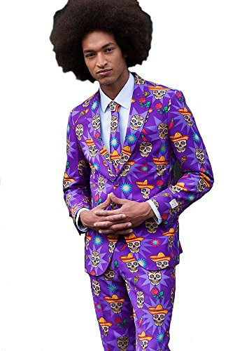[OppoSuits Mens El Muerto Party Suit - Crazy Suit,52] (Mens Lumberjack Costumes)