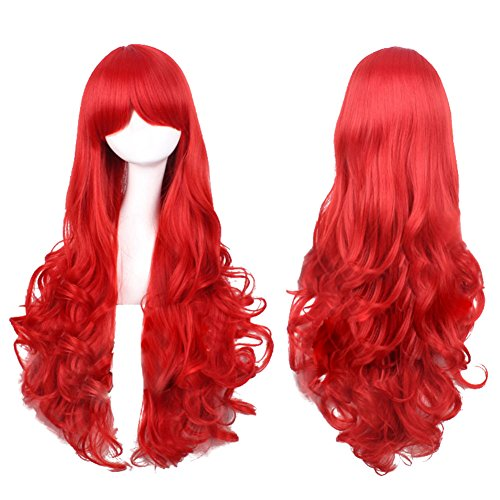 Miss Fortune Costume Lol (Xcoser Miss Fortune Long Curly Cosplay Wig Hair For Cosplay Costume Accessories)