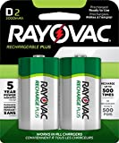 RAYOVAC D 2-Pack RECHARGEABLE PLUS Batteries, PL713-2 GENE
