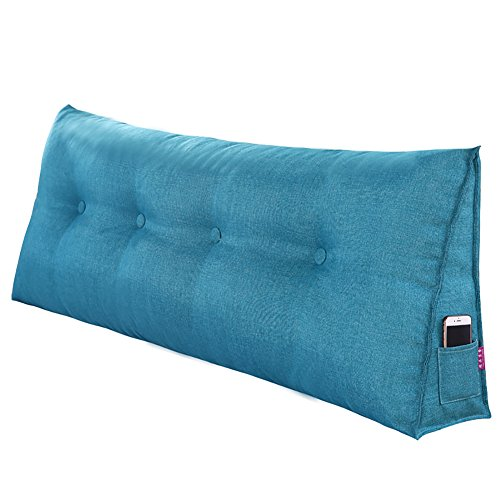 DULPLAY Cotton Reading Pillow,Large Triangular Wedge Cushion,Bed backrest Soft Breathable Removable...