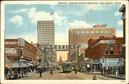 Main St. Looking North from 10th Fort Worth, Texas Original Vintage - Worth St Fort