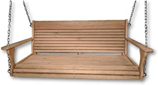 product image for Wood Tree Swings-Cypress Porch Swing/Wood Porch Swing/USA Made/Wooden Swing