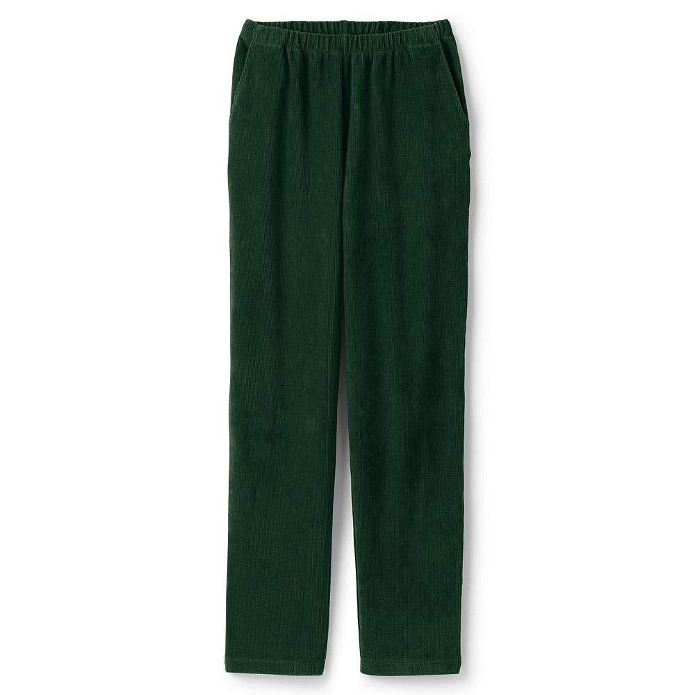 5671f788147 Lands  End Women s Plus Size Petite Sport Knit Corduroy Elastic Waist Pants  High Rise