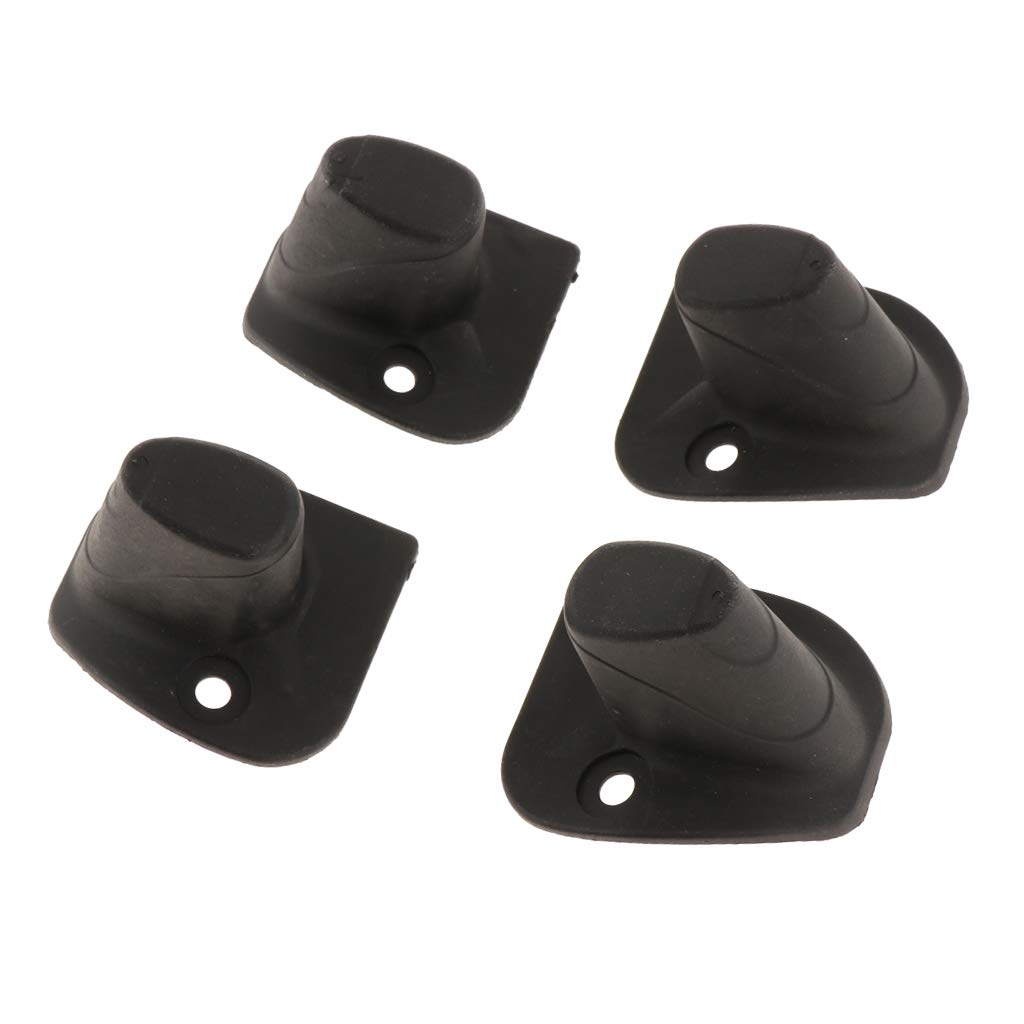 kesoto 4x Plastic Luggage Stud Feet Pad Black For Luggage Bag Accessories