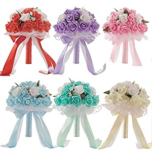 6 Colors Bouquet Hotsale Artificial Foam Flowers Foam Roses for Women Wedding Arrangement Bridal Bouquet Wedding Bouquets 66