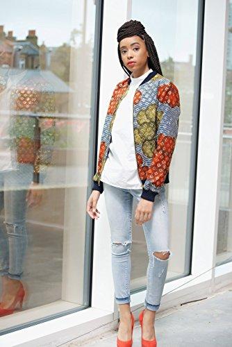 Bomber jacket / African print bomber jacket/ ankara print bomber jacket - multi bubbles by Gitas Portal