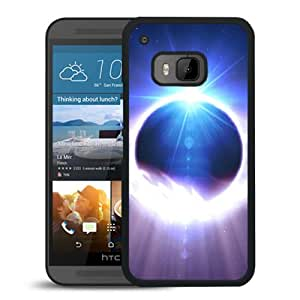 New Beautiful Custom Designed Cover Case For HTC ONE M9 With Space Solar Eclipse Phone Case