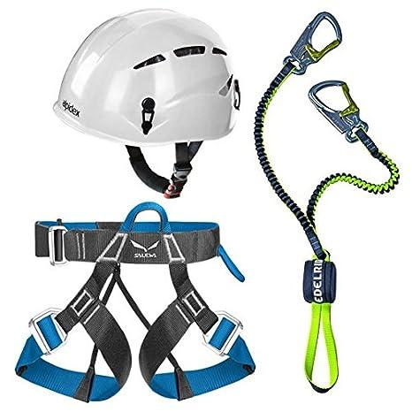 Edelrid Via Ferrata Cable Lite 2,3 + Alpidex casco de escalada ...