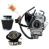 Carbhub GY6 150cc Carburetor GY6 26mm Carb for Kazuma Taotao Roketa SunL Baja Eagle Chinese Go Kart Carb with Air Filter
