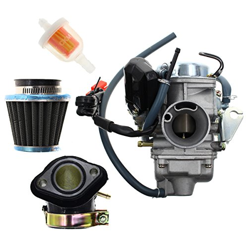 Atv Parts & Accessories Careful Gy6 125cc 150cc Pd24j Carburetor Carb With Drian Tube Hammerhead Sunl Roketa Kazuma Taotao Atv Go Kart Scooter Parts Pure White And Translucent