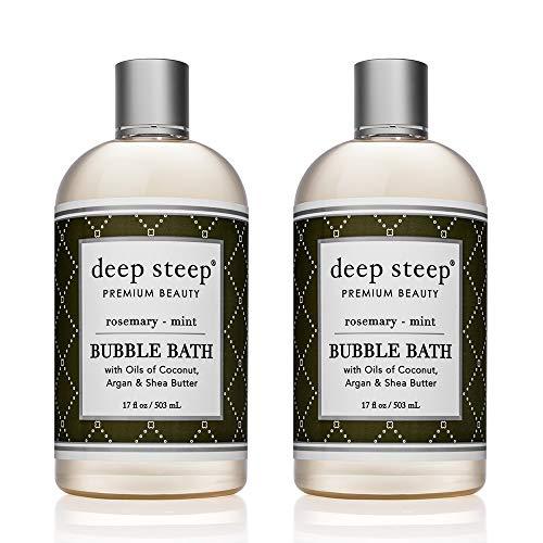 Deep Steep Bubble Bath, 17 Ounce (Pack of 2) (Rosemary Mint) -