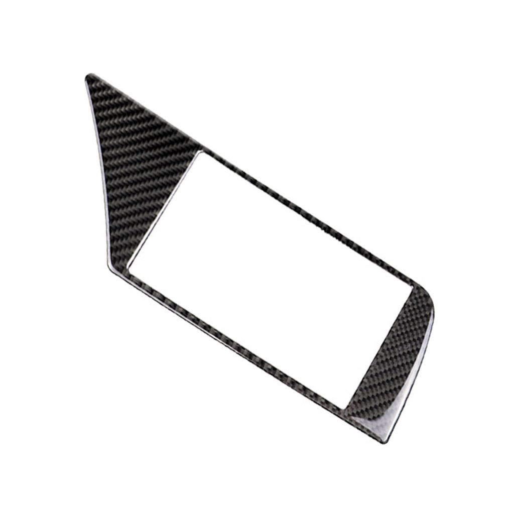 Morelyfish In Fibra di Carbonio di Navigazione GPS Schermo Telaio Sostituzione del Pannello di Copertura Trim Autoadesivo Adesivo Posteriore per A4 B8 2009-2016