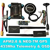 General APM2.8 Flight Controller + NEO-7M GPS, 3DR 433Mhz Telemetry, OSD, Power Module