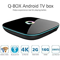 Android TV Box QBOX 2GB/16GB/4K/3D/2.4GHz 5.0GHz Dual Wifi Android 5.1 Quad Core Smart TV Box Amlogic S905 1000M LAN Bluetooth 4.0