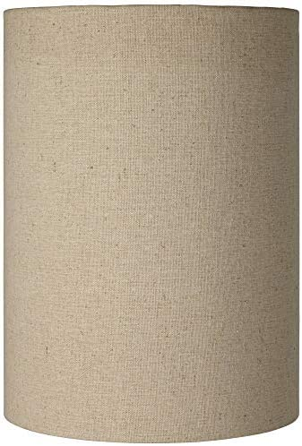 Cotton Blend Tan Cylinder Shade 8x8x11 Spider – Brentwood