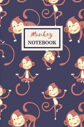 Monkey Notebook: Cute Gift Journal for Girls College-Ruled 120-page Blank Lined Notebook 6 x 9 in (15.2 x 22.9 cm)