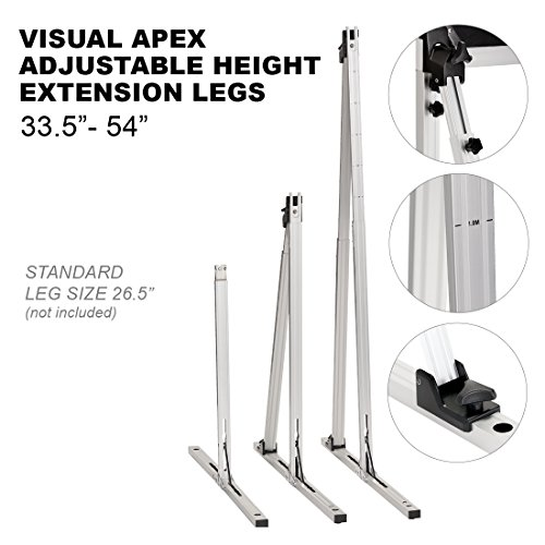 Visual Apex Projector Screens Adjustable Height 33.5