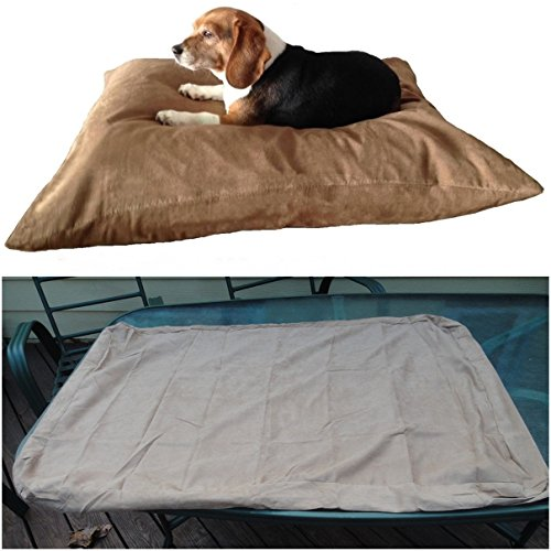 1Pc Authentic Modern Large Pet Bed Cover Soft Suede Machine Washable Dog Comfortable Color Beige with Zipper (Trailer Hitch Pet Step compare prices)