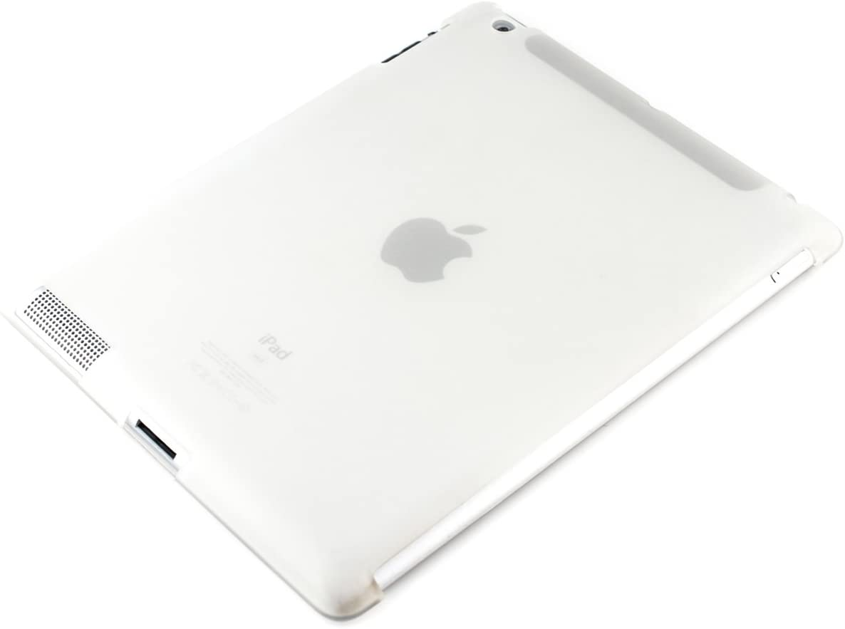 kwmobile TPU Silicone Case Compatible with Apple iPad 2/3 / 4 - Soft Smart Cover Compatible Protective Cover - White