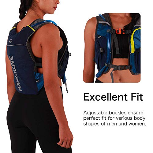Mangrove Hydration Backpack Pack with 2L Water Bladder, Super Lightweight Breathable Hydration Pack – Professional Outdoor Sports Gear for Jogging Marathon Hiking Cycling, Fits Men Women Teens