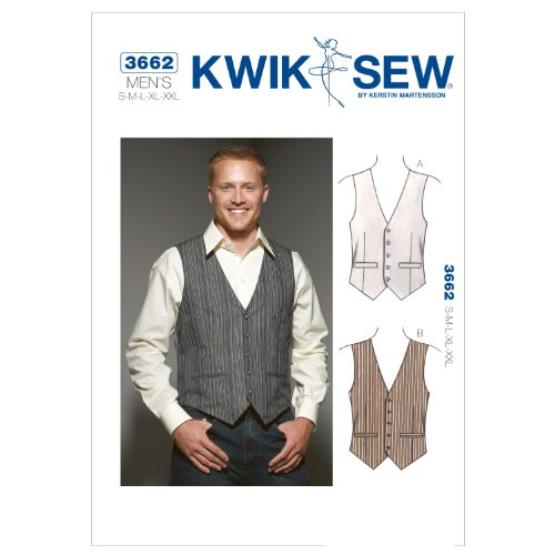 Kwik Sew K3662OSZ K3662 Vests Sewing Pattern, Size S-M-L-XL-XXL by KWIK-SEW PATTERNS