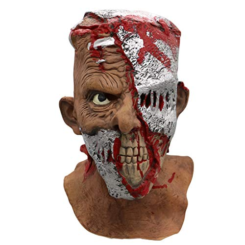 Scary Child Neon Costumes - Adult Horror Head Bloody Mask Melting