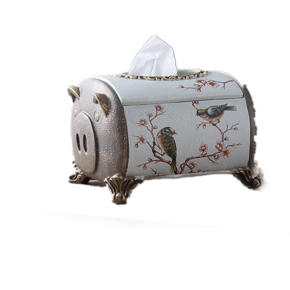 Home DecorAddition Diaper Toy Hamper European Household Multi-Function Tissue Box Creative Cute Storage Box American Living Room Retro Tray 20 15 13.5Cm