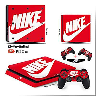 d6f0985e70b9c Amazon.com: Ci-Yu-Online VINYL SKIN [PS4 Slim] Nike Logo Shoe Box ...