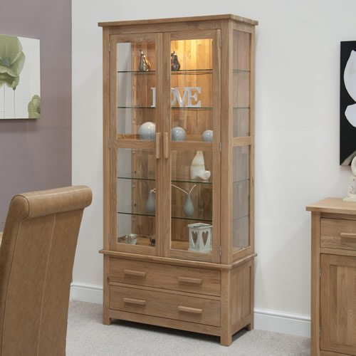 Opus Oak Glass Display Unit
