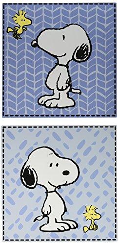 Bedtime Originals Peanuts Forever Snoopu 2 Piece Wall Decor, (Snoopy Wall Decor)