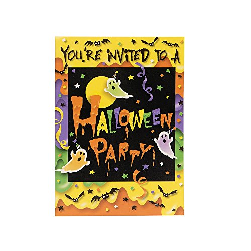 Party Ghost Halloween Invitations, (Ghost Town Halloween Party Ideas)