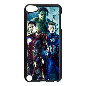 Generic for iPod Touch 5 Case Black Avengers Age of Ultron Superheroes Custom LKNFASFNV9968