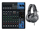 Yamaha MG10XU 10 Channel Mixer w/FX + Audio Technica ATH-M20X...