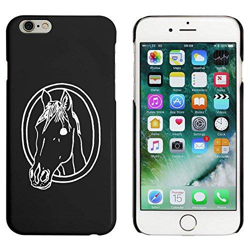 Schwarz 'Pferdekopf im Rahmen' Hülle für iPhone 6 u. 6s (MC00050937)