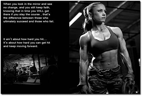 Gym Fitness motivation men and women high quality canvas print choose your size