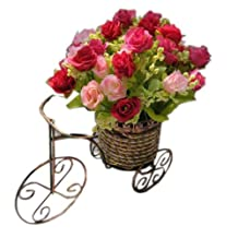 Valentine's Roses Small Silk Glowers Wedding Carriage Floral Table Decoration