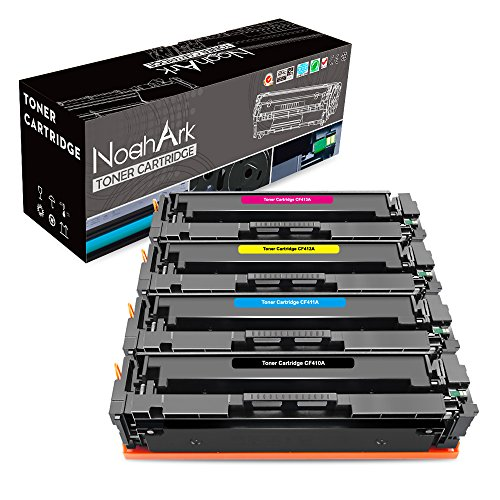 NoahArk Compatible HP 410A CF410A CF411A CF412A CF413A Toner Cartridge Replacement for HP Color Laserjet Pro M452dn M452nw M452dw M377dw,MFP M477fdn M477fdw M477fnw Printer High Yield (B/C/Y/M)