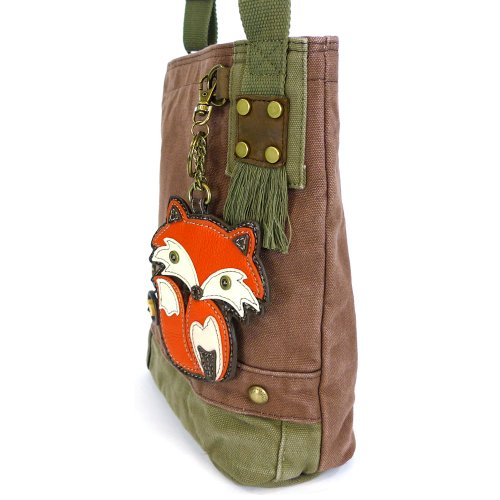 Mauve Handbag Crossbody Messenger Bags Canvas Chala with coin purse FOX Ozwq1P1xd