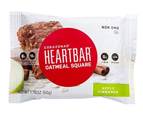 Heartbar Oatmeal Square, Apple Cinnamon, 1.76 Ounce (Pack of 12)