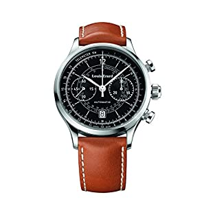 Louis Erard 1931 Collection Swiss Automatic Black Dial Telemeter Men's Watch 71245AA02 Brown Veal
